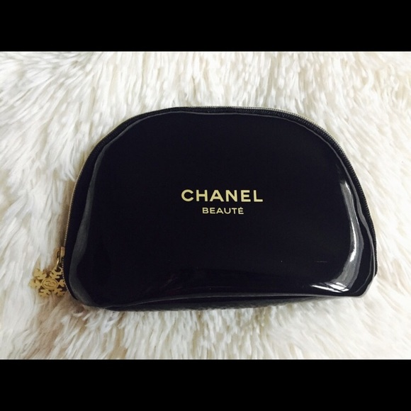 ff5550a5a960 Bags | Small Glossy Chanel Cosmetic Makeup Pouch Bag | Poshmark
